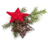 Christmas decoration isolated on white background Royalty Free Stock Photos