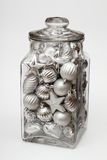 Christmas decoration jar Stock Photo