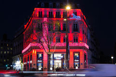 Christmas decoration on jewellery boutique Cartier. Stock Images
