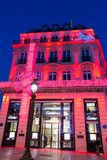 The Christmas decoration on jewellery boutique Cartier. Royalty Free Stock Photos
