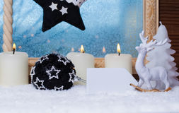 Christmas decoration with label Stock Images
