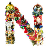 christmas decoration letter n Στοκ εικόνες με δικαίωμα ελεύθερης χρήσης