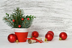 Christmas decoration and letter for Santa Royalty Free Stock Photos