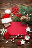 Christmas decoration, letter to Santa Claus Royalty Free Stock Photos