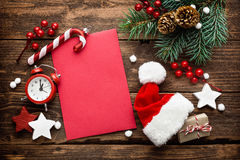 Christmas decoration, letter to Santa Claus Stock Image