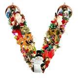 christmas decoration letter v Στοκ εικόνες με δικαίωμα ελεύθερης χρήσης