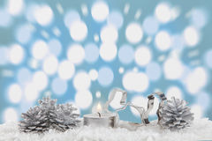 Christmas decoration with light bokeh in the background Stock Photo