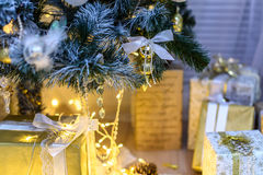 Christmas decoration lights background miracle.  Stock Photography