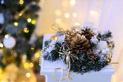 Christmas decoration lights background miracle.  Royalty Free Stock Image