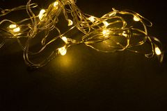 Christmas decoration lights Royalty Free Stock Images