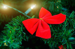 Christmas decoration with lights garland.  Stock Images