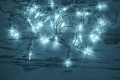 Christmas decoration lights garland ornament Stock Images