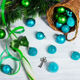 Christmas decoration with lollipop Stock Image