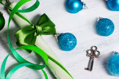 Christmas decoration with lollipop Stock Photography