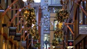 Christmas decoration at London West End - LONDON, ENGLAND - DECEMBER 10, 2019
