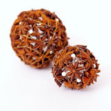 Christmas decoration made of anise Stock Images