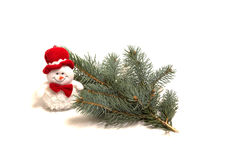 Christmas Decoration. Made of fir tree, on white background Stock Photography