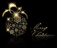 Christmas decoration made from golden snowflakes Royalty Free Stock Photos