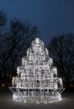 A christmas decoration made of many white lights Stock Photo