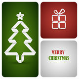 Christmas decoration made from white paper. Eps 10 Royalty Free Stock Photography