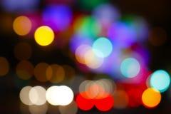 Christmas decoration - Madrid's street lights Royalty Free Stock Photos