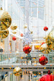 Christmas decoration in the mall. Beautiful decoration of the shopping mall for christmas Stock Images