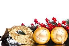 Christmas decoration mask Stock Photos