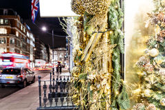 Christmas decoration in Mayfair, London Royalty Free Stock Photos