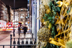 Christmas decoration in Mayfair, London Royalty Free Stock Images