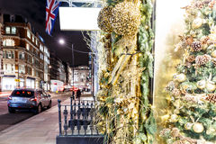 Christmas decoration in Mayfair, London Stock Images