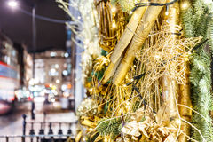 Christmas decoration in Mayfair, London Stock Image
