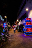 Christmas decoration in Medellin Stock Images