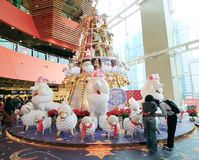 Christmas decoration in Mega Box Shopping Mall Stock Photo