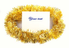 Christmas decoration  message sheet Royalty Free Stock Photography