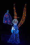Christmas decoration in Monserrate. BOGOTA, COLOMBIA - JANURAY 6, 2015: Some Christmas decoration at the top of the hill Monserrate, in Bogota Royalty Free Stock Images