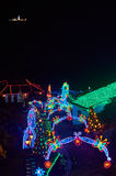 Christmas decoration in Monserrate. BOGOTA, COLOMBIA - JANURAY 6, 2015: Some Christmas decoration at the top of the hill Monserrate, in Bogota Royalty Free Stock Photography