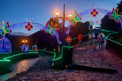 Christmas decoration in Monserrate Royalty Free Stock Photos