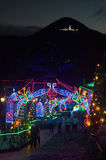 Christmas decoration in Monserrate. BOGOTA, COLOMBIA - JANURAY 6, 2015: Some Christmas decoration at the top of the hill Monserrate, in Bogota Royalty Free Stock Image