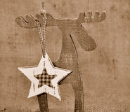 Christmas decoration Moose Royalty Free Stock Photo