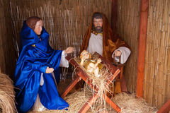 Christmas Decoration Nativity Scene Stock Photo