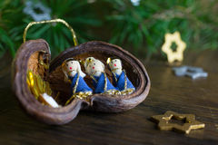 Christmas decoration with Nativity scene Stock Images