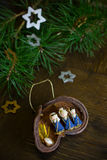 Christmas decoration with Nativity scene Stock Photo