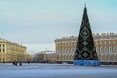 Christmas decoration of the Nevsky prospect in St. Petersburg. Russia Stock Images