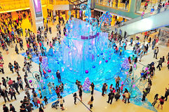 Christmas decoration at new town plaza, hong kong Stock Image