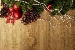 Christmas decoration and New Year 2019 stock photo