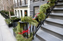 Christmas decoration New York City Manhattan Stock Image
