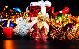 Christmas decoration for the night Royalty Free Stock Photos