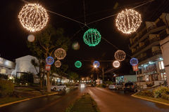 Christmas Decoration at Night Canela Brazil Stock Images