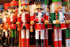 Colorful nutcrackers at a traditional Christmas market in Salzburg, Austria. stock images