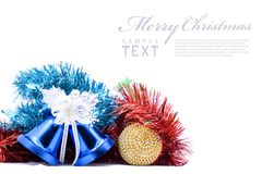 Christmas decoration objects Royalty Free Stock Image